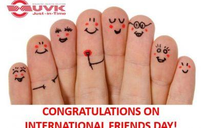 CONGRATULATIONS ON INTERNATIONAL FRIENDS DAY!